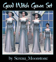 Mod The Sims - Good Witch Gown Set - A Better Option for your Witch Sims (Part of my Witch Gown Collection)