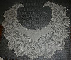Ravelry: Tru Wuv pattern by Jane AraújoThis pattern is available for $5.50 US    This is a very special shawl that was designed for the awesome Lanafactrix to be her wedding shawl.  Tru Wuv is a generous sized crescent knit from the neck down and it only takes one skein of lace weight yarn.  The pattern is charted (the charts are…intense - for lack of a better word, but doable as long as you're rested and keep your place on the charts).