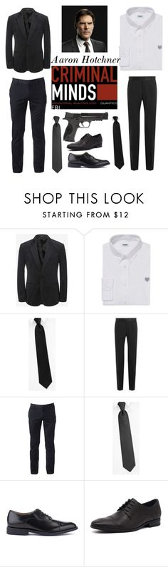 """""""Aaron Hotchner  """"Hotch"""""""" by alindsey2021 on Polyvore featuring Alexander McQueen, Kenzo, Dolce&Gabbana, Urban Pipeline, Clarks, Julius Marlow and Smith & Wesson"""