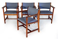 Borge Mogensen BM-73 Dining Arm Chairs $595 set of 4