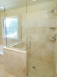 Exactly our layout but our window is bigger. Can bump the shower to the window edge. Not my tile style though