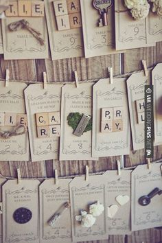 So good! - escort cards with scrabble tiles | CHECK OUT MORE IDEAS AT WEDDINGPINS.NET | #weddings #rustic #rusticwedding #rusticweddings #weddingplanning #coolideas #events #forweddings #vintage #romance #beauty #planners #weddingdecor #vintagewedding #eventplanners #weddingornaments #weddingcake #brides #grooms #weddinginvitations