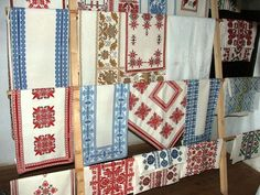 Examples of local Beregi embroidery in the Provincial House of Tákos Cross Stitch Embroidery, Needlework, Quilts, Blanket, Minden, House, Embroidery, Dressmaking, Couture
