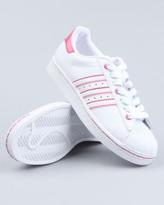 Nice pin stripe adidas beautiful pink color in white stands out very nice