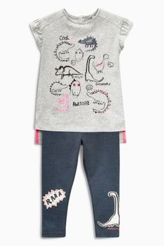 Buy Grey Dino Top And Leggings Set (3mths-6yrs) online today at Next: United States of America