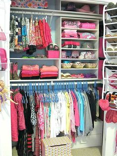 Organizing your child's closet with open storage is easy to do with these simple shortcuts./