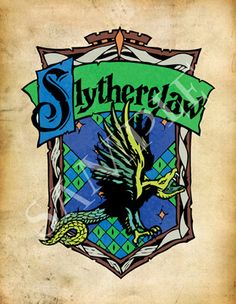This is the Front of the Slytherclaw postcard! Come check it out on Etsy! www.etsy.com/ship/CrestCrossed