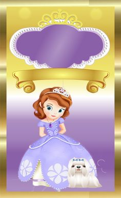 Free Printable Invitations, Cards, Photo Frames or Labels. Free Printable Invitations, Cards, Photo Frames or Labels. Sofia Birthday Cake, Sofia The First Birthday Party, Baby Party, Princess Sofia Party, Princess Sofia The First, Sofia The First Characters, Aya Sophia, Birthday Party Invitations, Birthday Cards