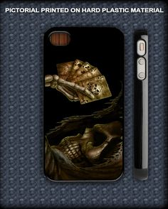 poker cartoon skull for iphone 4,4s and iphone 5 case.