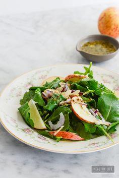 Kale Apple Salad & Vinaigrette   ~   Gluten-Free