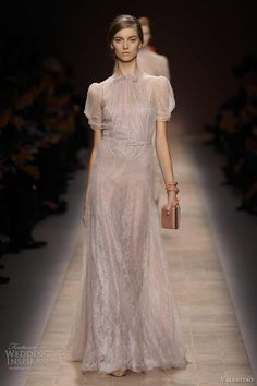 valentino spring 2013 ready to wear puff sleeve dress