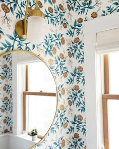 Is your home in need of a bathroom remodel? Here are Amazing Small Bathroom Remodel Design, Ideas And Tips To Make a Better. Bathroom Wallpaper, Of Wallpaper, Beautiful Wallpaper, Georgia Wallpaper, Remove Wallpaper, Interior Wallpaper, Wallpaper Patterns, Wallpaper Ideas, Bathroom Inspiration
