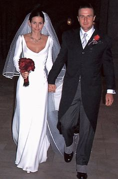 David Arquette and Courtney Cox #celebrity #wedding