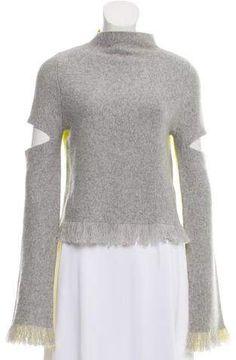 Zoë Jordan Wool Cut-Out Accented Sweater