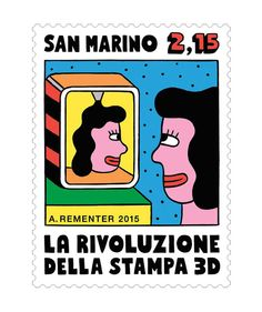 Andy Rementer – San Marino stamps
