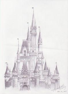 cinderella castle drawing - Google Search