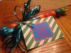 Teacher appreciation mini gift