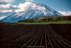 Winter holds fast to the corrugated slopes of Hokkaido's Mount Yotei even as spring unfurls below. #Hokkaido #Yotei #Japan #spring #mountain @natgeo @natgeocreative @thephotosociety by yamashitaphoto