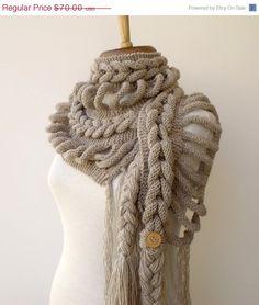 CHRISTMAS SALE New Rapunzel Wool Scarf-Milky by knittingshop