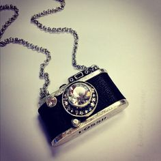 Pretty camera necklace for all those photography guru's out there!