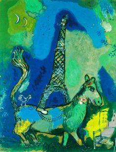"afroui: "" Marc Chagall | The Eiffel Tower 1927 """