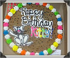 Delightful Decorated Cookie Cake with Great American Cookies Cookie Pie, Cookie Cakes, Cupcake Cookies, Cupcakes, Great American Cookie Company, Cookie Pictures, Halloween Cookies Decorated, Easy Cake Decorating, Flower Cookies