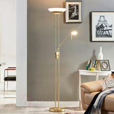 Lampadaire rustique LED Elaina, couleur rouille   LED and Design