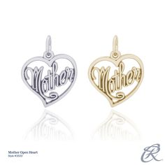 Silver or Gold?  The Mother Open Heart Charm reminds everyone of the most important person in the lives of children. A perfect gift for any mom. Style # 3500