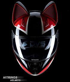 """NITRINOS > """"Red Cat"""" Helmet Themed Cat"""