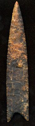 Redstone - Age and Culture: Paleo Period ~ 15,000 - 9,000 B.P. Extremely rare. This one, made of translucent Coastal Plains Chert, was found in the Edisto River, SC and is the finest example known. http://www.theaaca.com/typology/Redstone.jpg