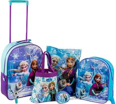 Disney Frozen Luggage Set -- You can find more details by visiting the image link. (This is an affiliate link and I receive a commission for the sales) Frozen Bday Party, Disney Frozen Birthday, Disney Frozen 2, Frozen Elsa Dress, Frozen Elsa And Anna, Disney Princess Toys, Disney Toys, Disney Frozen Bedroom, Frozen Coloring Pages