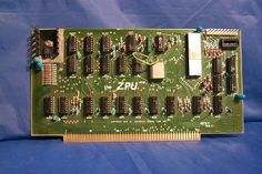 The very first computer I built.  This is the Xitan Z80 ZPU card.  This came to me as a blank board and a bag of parts.