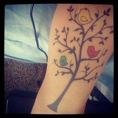 3 lil birds ♪ bob marley inspired tat