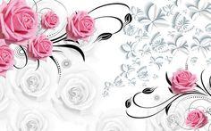 Pink rose 3d flor papel de parede Papéis de Parede para sala 3d papel de parede moderno para sala de estar pinturas murais