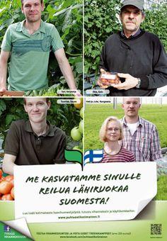 Puhtaasti kotimainen - Me kasvatamme sinulle reilua lähiruokaa Suomesta! Baseball Cards, Sports, Hs Sports, Sport