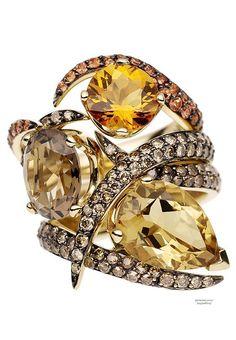 Shaun Leane, Ring, Orange Sapphire Aurora Set