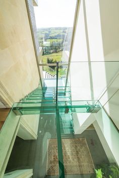 A short catwalk in glass can bring much light into the house. Try Siller glass stairs and glass bridges Glass Bridge, Glass Stairs, Bridges, Catwalk, House, Home Decor, Decoration Home, Home, Room Decor