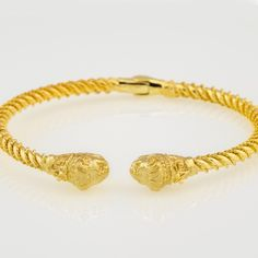 14k Gold lion bracelet from Alexander the Great Collection.In Ancient Greece Lions were the symbol of power and wealth.Caracteristic monument is the Lion of Chaeronea, funerary statue erected to mark the common tomb of more than 250 members of the Sacred Band of Thebes who had been killed in the Battle of Chaeronea in 338 BCE.In which Philip II of Macedonia defeated a coalition of Greek city-states led by Thebes and Athens. Sacred Band Of Thebes, Lion Bracelet, Gold Jewelry, Fine Jewelry, Greek History, Alexander The Great, Macedonia, Ancient Greece, Handmade Bracelets