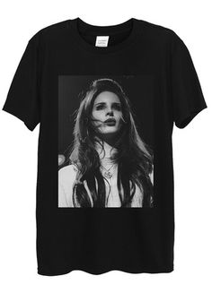 Lana Del Rey Singing T-Shirts available in different colours, styles and sizes.