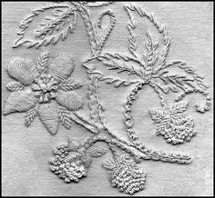 Brambles stitch detail by Liz Almond of Blackwork Journey