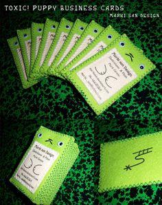 Felt Stitched Business Card: Crafty goodness business card