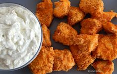 Pepi's kitchen: Κοτομπουκιές φούρνου με ντιπ ροκφόρ Greek Recipes, Mashed Potatoes, Dips, Appetizers, Food And Drink, Cooking Recipes, Meat, Chicken, Ethnic Recipes
