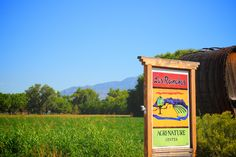 Village of Los Ranchos de Albuquerque, view of the Agri-Nature sign from Rio Grande Blvd looking east towards the Sandia Mountains.  www.losranchosnm.gov