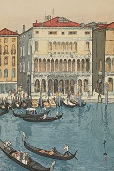 "Japanese Art Print ""Canal in Venice (Venisu No Unga)"" from the European Series by Yoshida Hiroshi. Shin Hanga and Art Reproductions http://www.amazon.com/dp/B00ZAJVSB6/ref=cm_sw_r_pi_dp_BFNswb0KE4X7P"