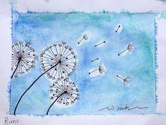 Spring Art, Summer Art, Watercolor Projects, Watercolor Art, Dandelion Painting, 2nd Grade Art, Childrens Artwork, School Art Projects, Art Club