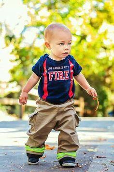 0a74501d Future Firefighter Fireman Outfit, Toddler Fireman Costume, Infant Boy Halloween  Costumes, Baby Boy