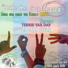 Tekkie Tax day might seem far off - Friday, 29 May 2020 - but it will be here in a blink of the eye. Show how much you REALLY care and support Tekkie Tax Day by getting your Tekkie Tax merchandise. Order online via our website www.tekkietax.org or contact us on 012 663 8181  #tekkietax #makethecirclebigger #takehands #lovingtekkies #jamblikprojek You Really, You Got This, South African Celebrities, Long Term Care Insurance, Tax Day, Big Show, Disability, Grateful, How To Find Out