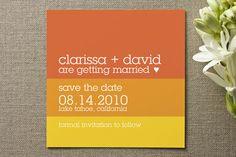 Orange Stripe Wedding Invitation