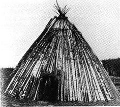 Paleolithic Siberian hunters were forced to abandon their spacious semi- subterranean dwellings for lighter portable shelters by the warming of the climate. A type of light surface dwelling such as a conical structure covered with tree bark or skins is indicated by the remains unearthed at campsites at the mouth of Malaya Munku River where it joins the Lena.