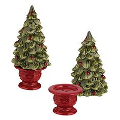Grasslands Road Topiary Stacked P Salt & Pepper Shaker Gr...